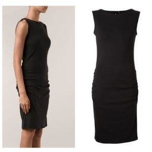 Jarbo Ruched Detail Fitted Dress in Navy